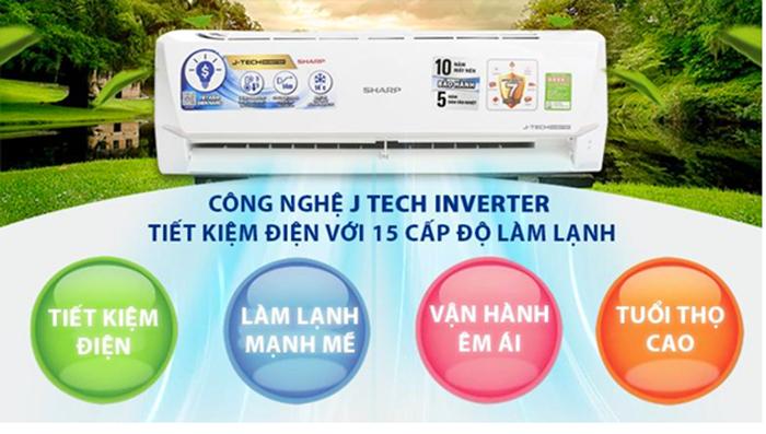 Máy Lạnh SHARP Inverter 1.0 HP AH/AU-X9VEW