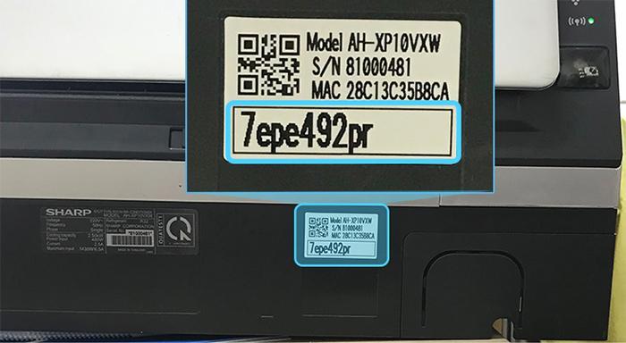 Chọn và nhậpmật khẩu cho mạng wifi này. Mật khẩu của chiếc điều hòa được đặt ở cạnh dưới của máy.