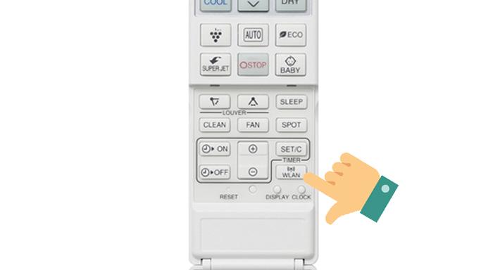 bạn phải thực hiện nhấn nút WLAN trong thời gian 3 phút kể từ lúc đăng kí điều hòa trên điện thoại, nếu không sẽ phải làm lại từ đầu).